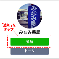 みなみ薬局LINE公式アカウント 登録画面イメージ